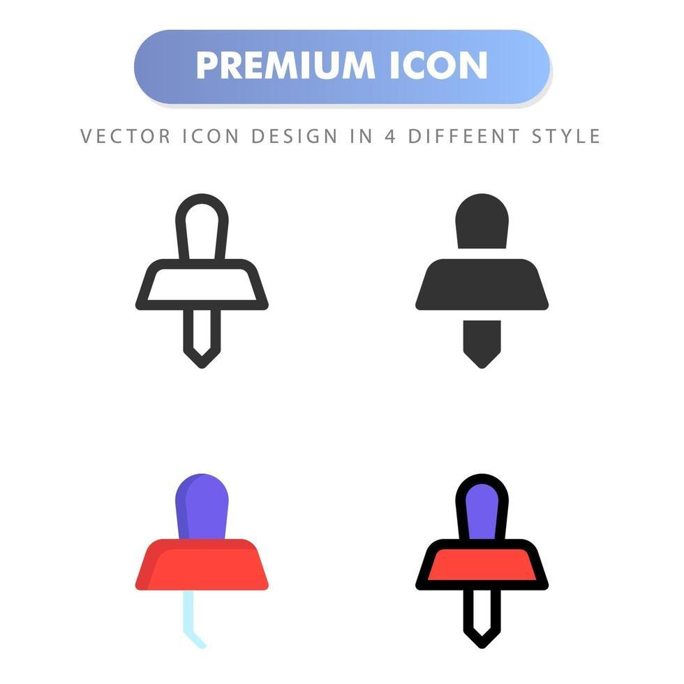 push-pins pictogram voor uw website-ontwerp, logo, app, ui. vectorafbeeldingen illustratie en bewerkbare beroerte. pictogram ontwerp eps 10. vector