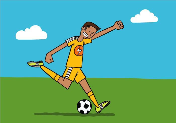 voetbalspeler vector