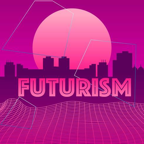 futurisme stad vector