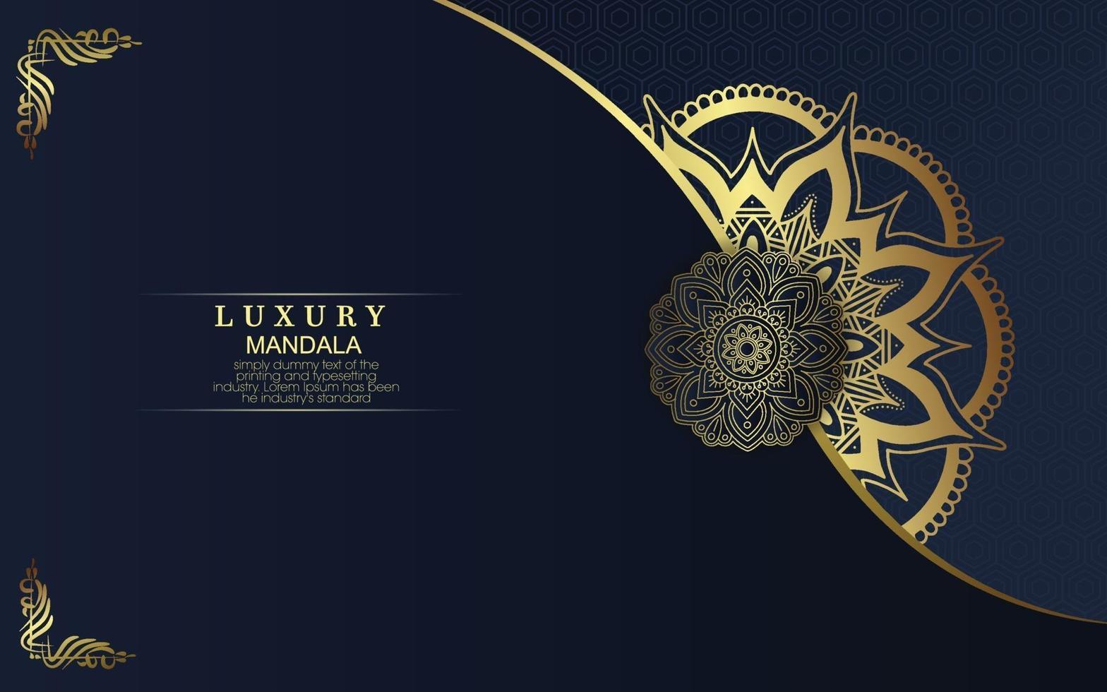 luxe sier mandala achtergrond met Arabische islamitische Oost-patroonstijl premium vector
