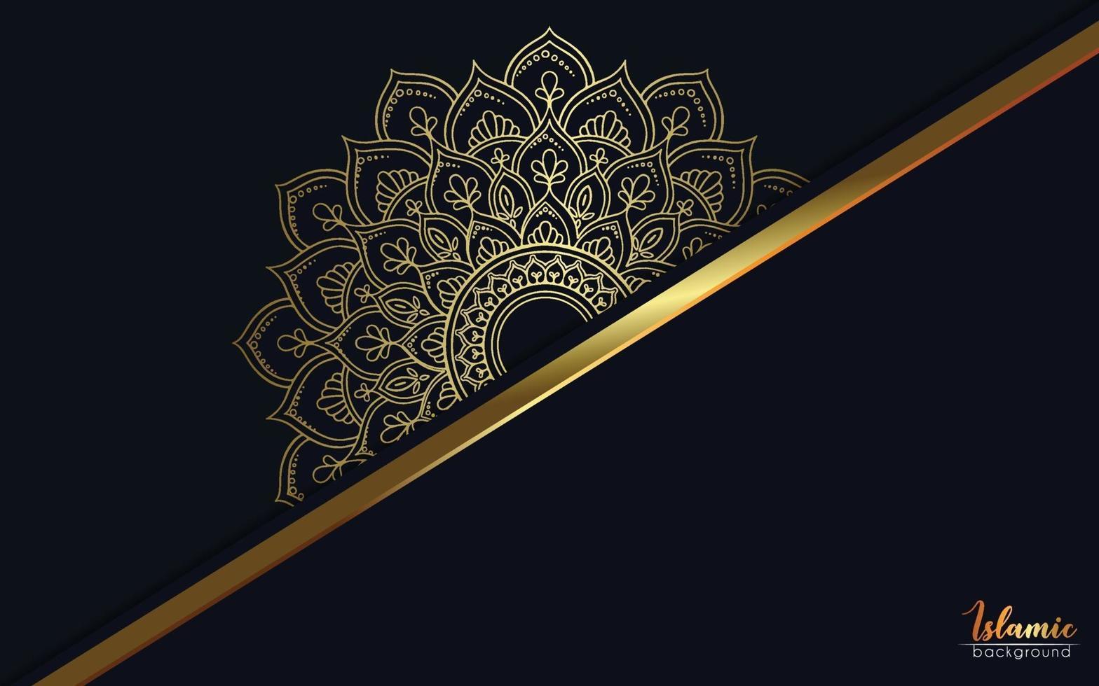 luxe gouden mandala sierlijke achtergrond voor bruiloft uitnodiging, boekomslag vector