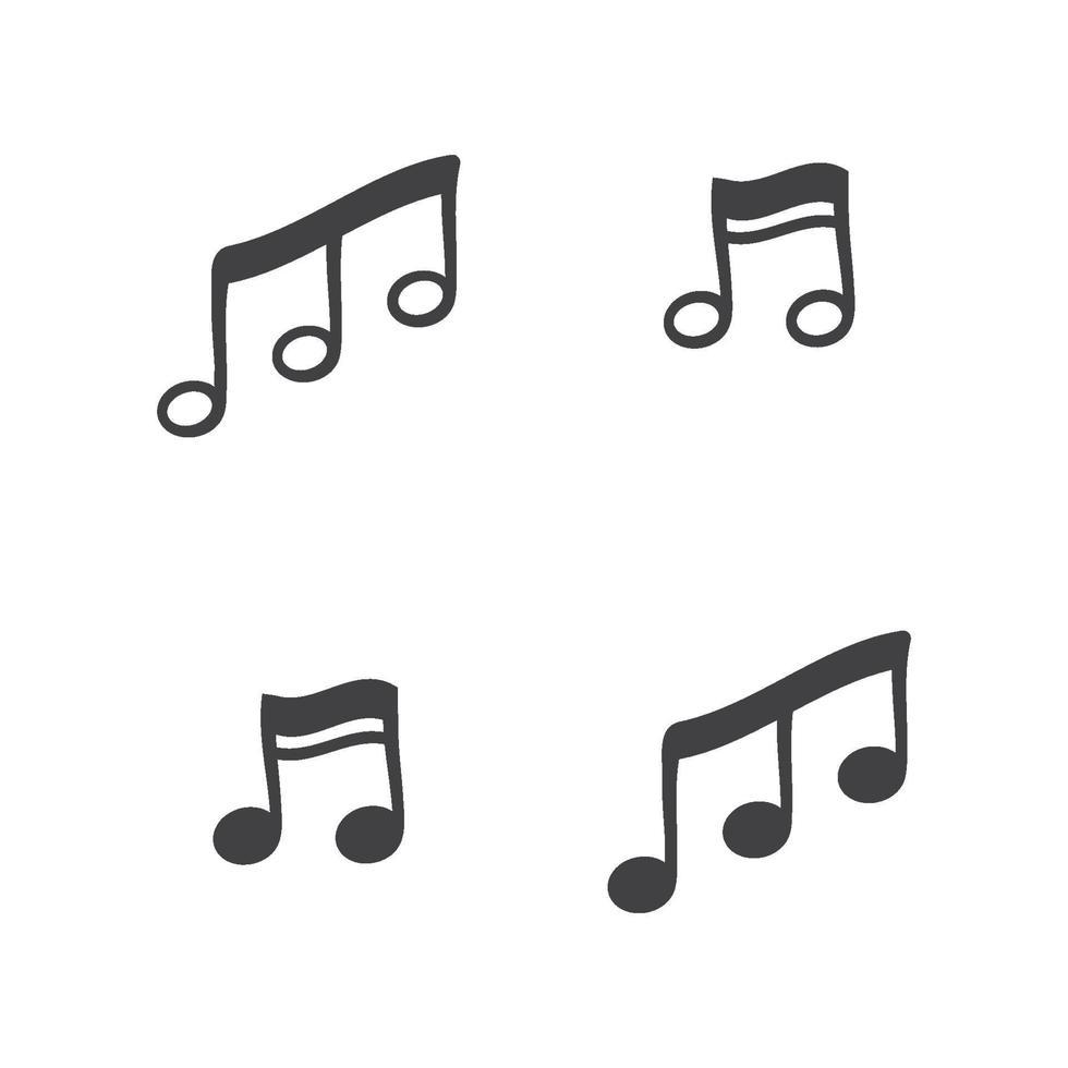 notitie toon logo en symbool vector