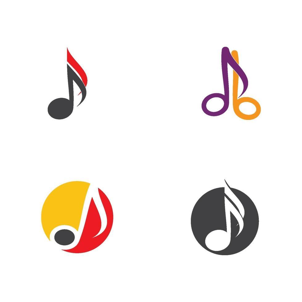 nota muziek logo en symbool vector