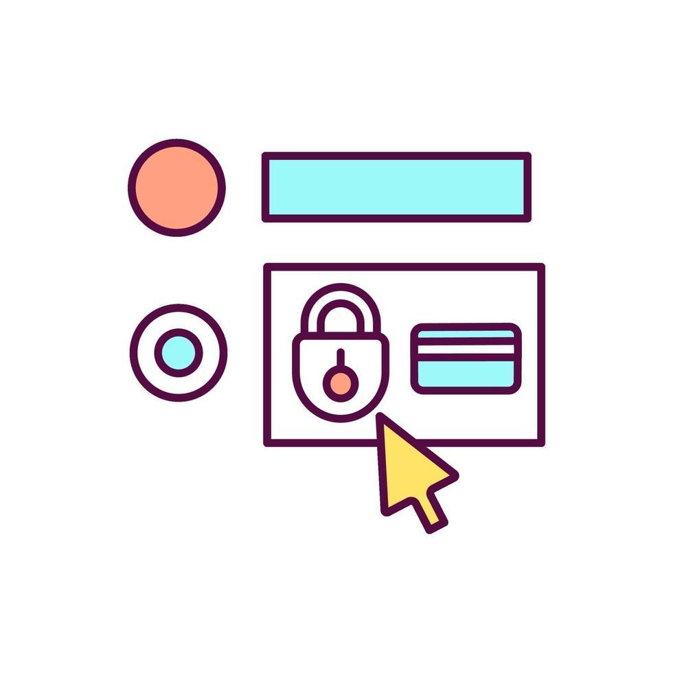 beschermd account RGB-kleurpictogram vector