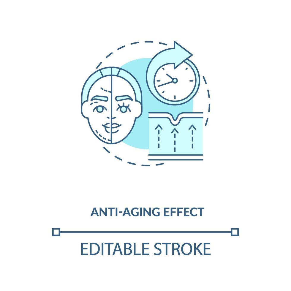 anti veroudering effect blauw concept pictogram vector