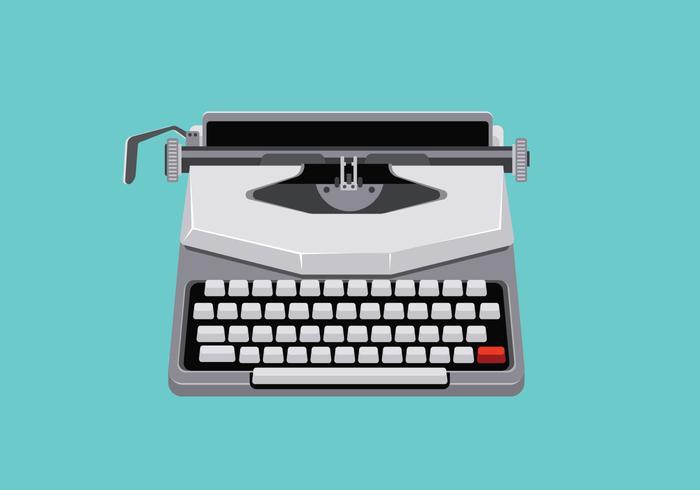 Mid Century Illustratie met Retro Typewriter vector
