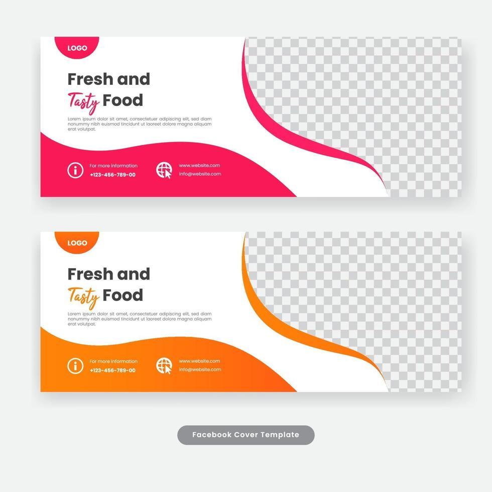 sociale media dekken voedselbannermalplaatje vector