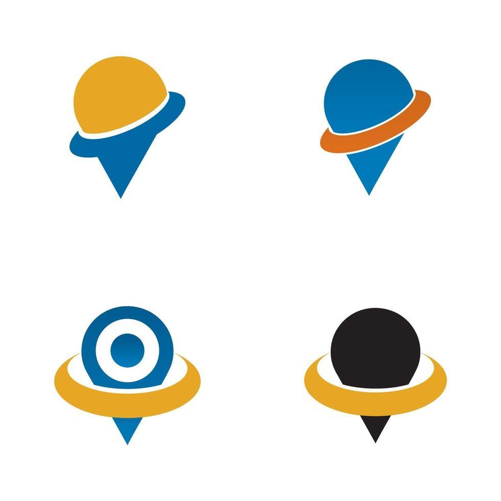 locatie punt pictogram logo ontwerpsjabloon vector