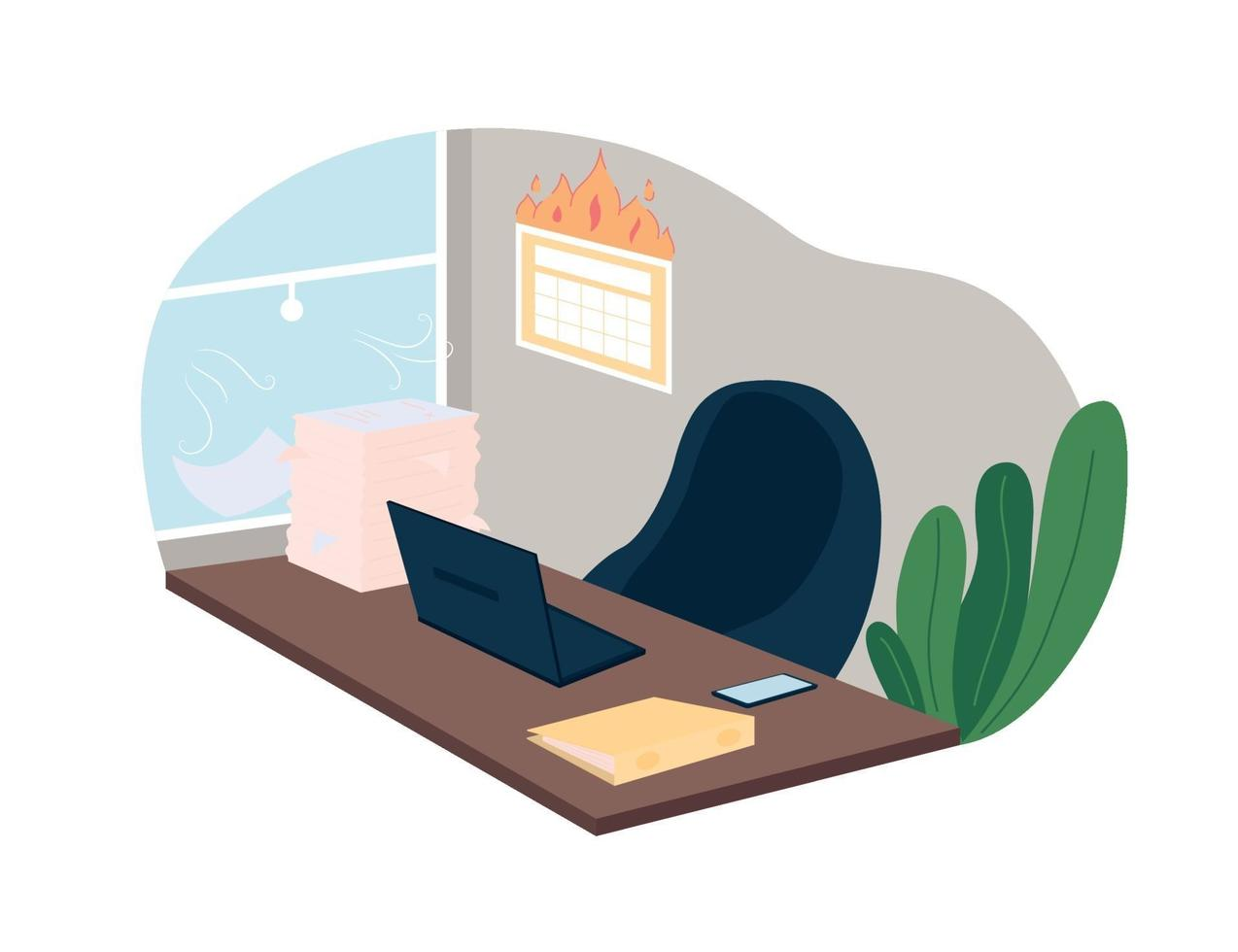 werk deadline en werklast 2d vector webbanner, poster