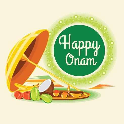 Happy Onam-wenskaart vector