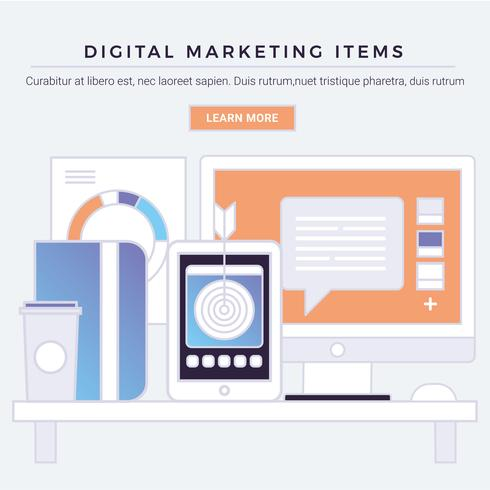 vector digitale marketing items
