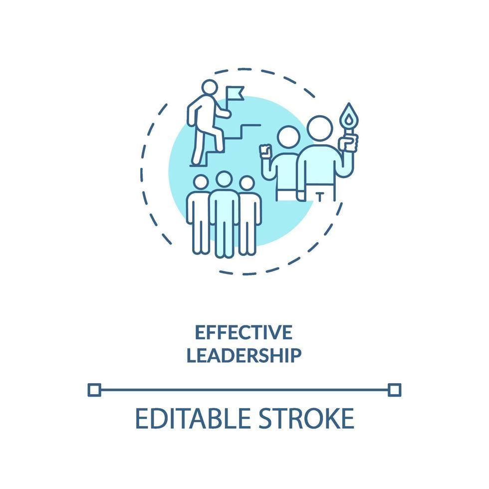 effectief leiderschap concept pictogram vector