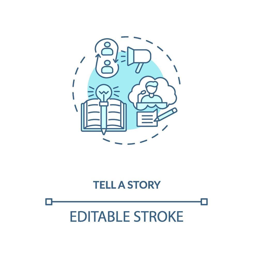 vertel verhaal concept pictogram vector