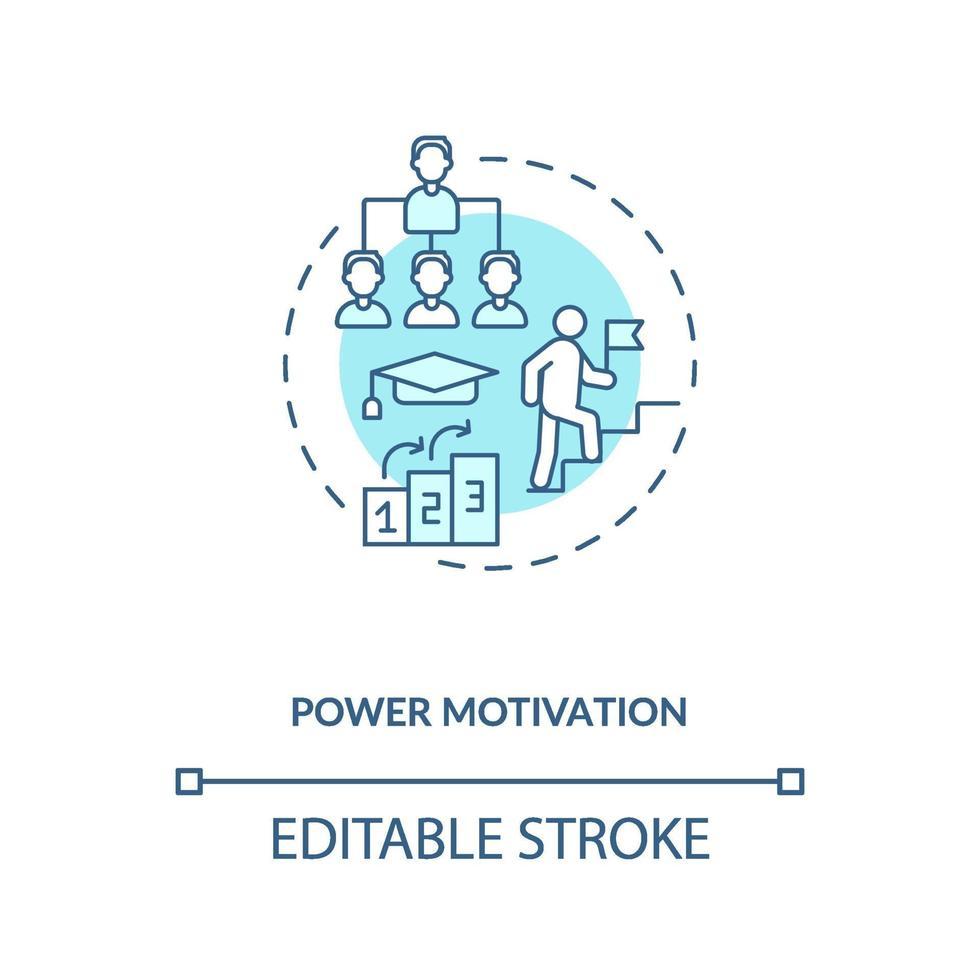 macht motivatie concept pictogram vector