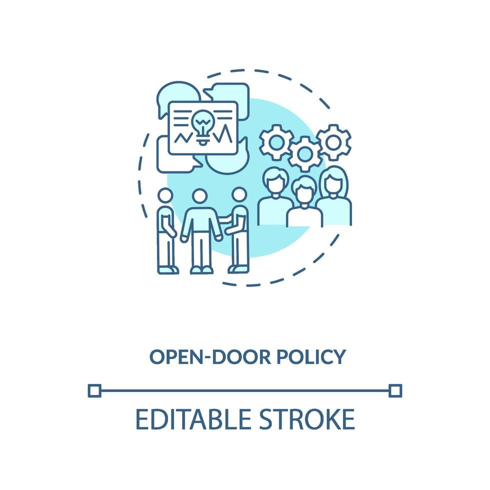 opendeur beleid concept pictogram vector