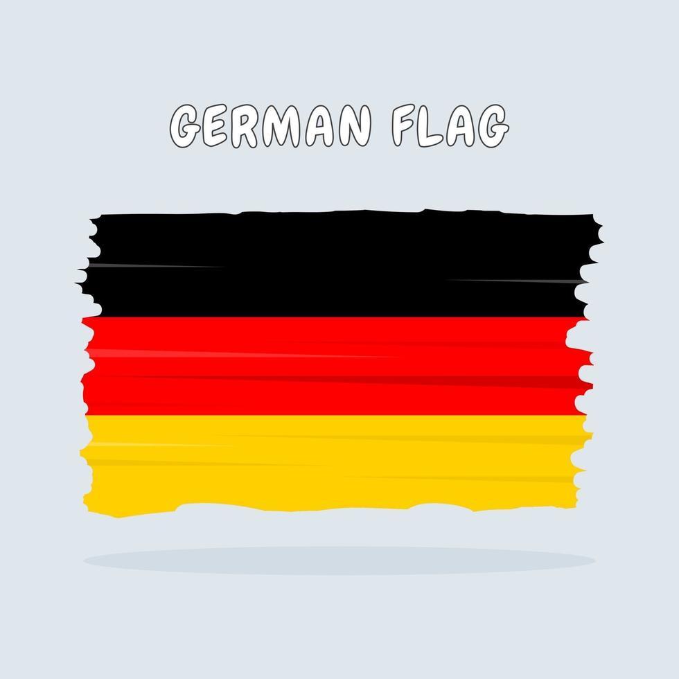 Duitse vlag ontwerp vector