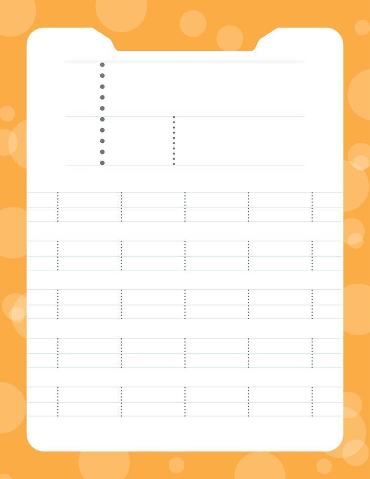 letter i tracing alfabet werkbladen vector