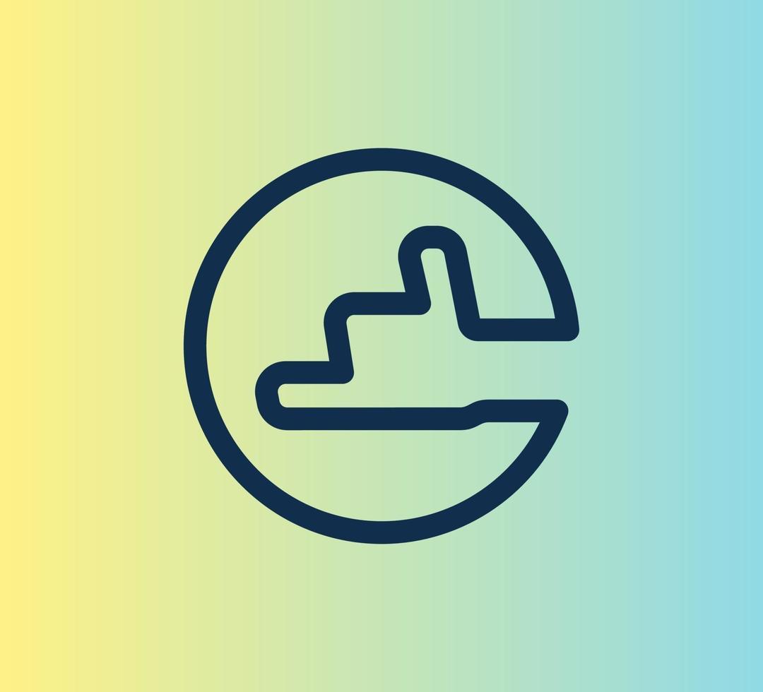 eenvoudige lijn duimschroef opwaarts pictogram vector