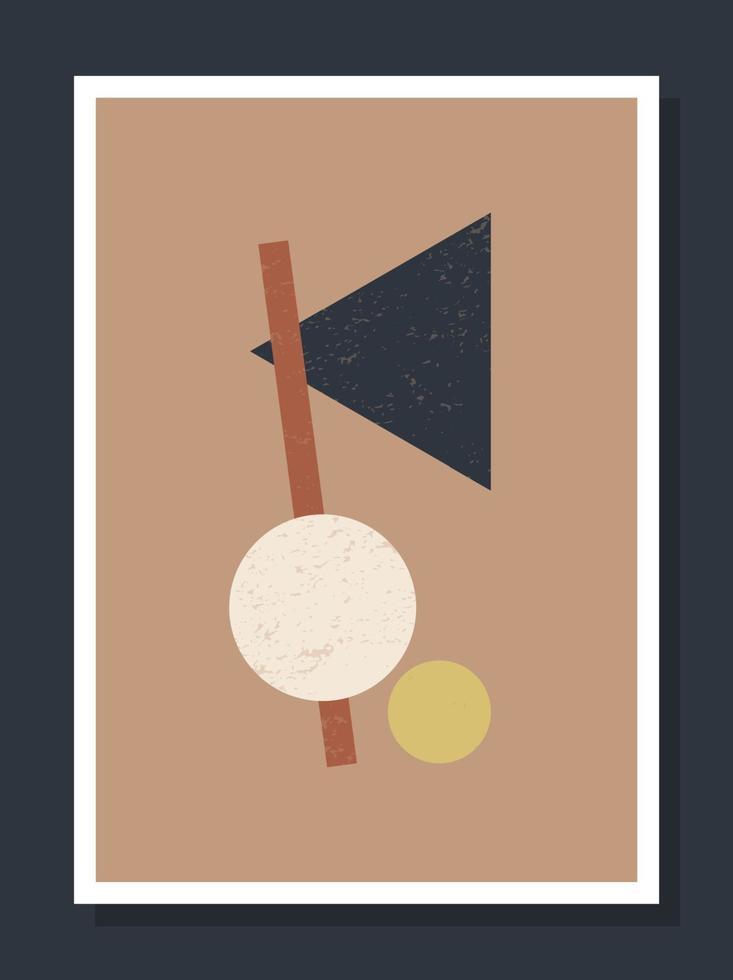 minimalistische geometrische vector kunst muur poster. minimale jaren '20 geometrische abstracte hedendaagse posters vector sjabloon boho primitieve vormen elementen ideaal voor wanddecoratie moderne hipster stijl