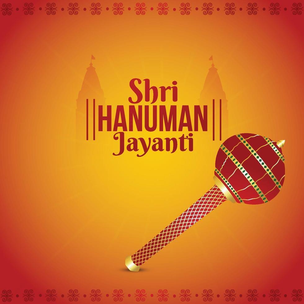 creatieve illustratie van Lord Hanuman Jayanti Indian Festival vector