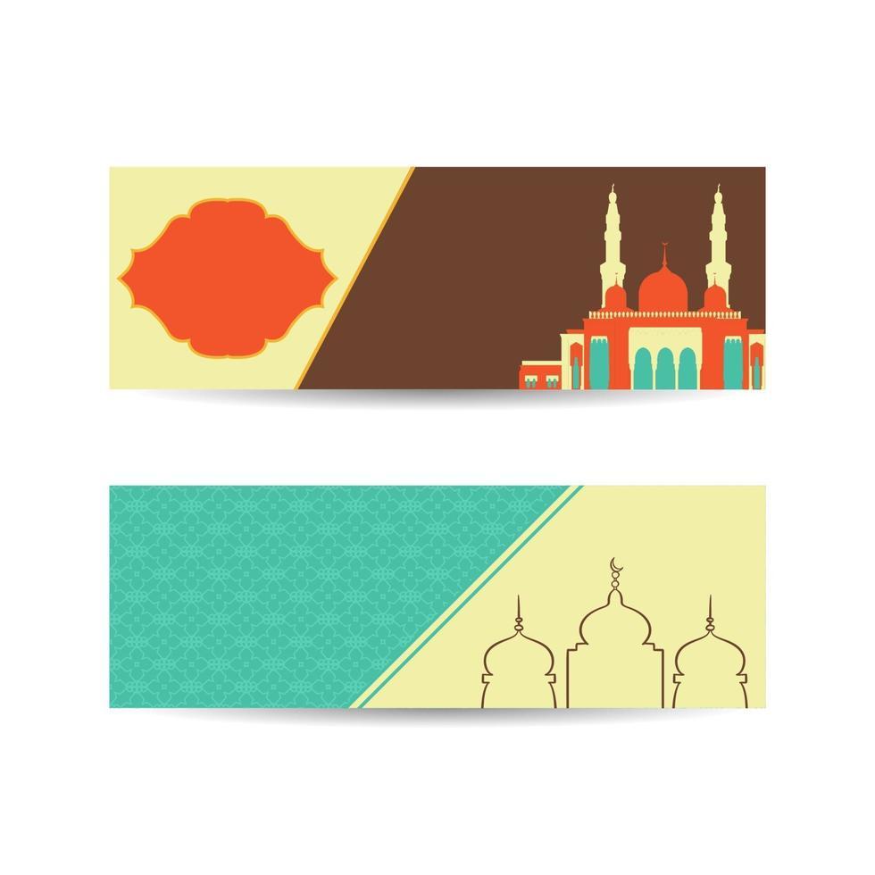 ramadan kareem ontwerp achtergrond. vectorillustratie voor wenskaarten, posters en banners. islamitische achtergrond banner vector