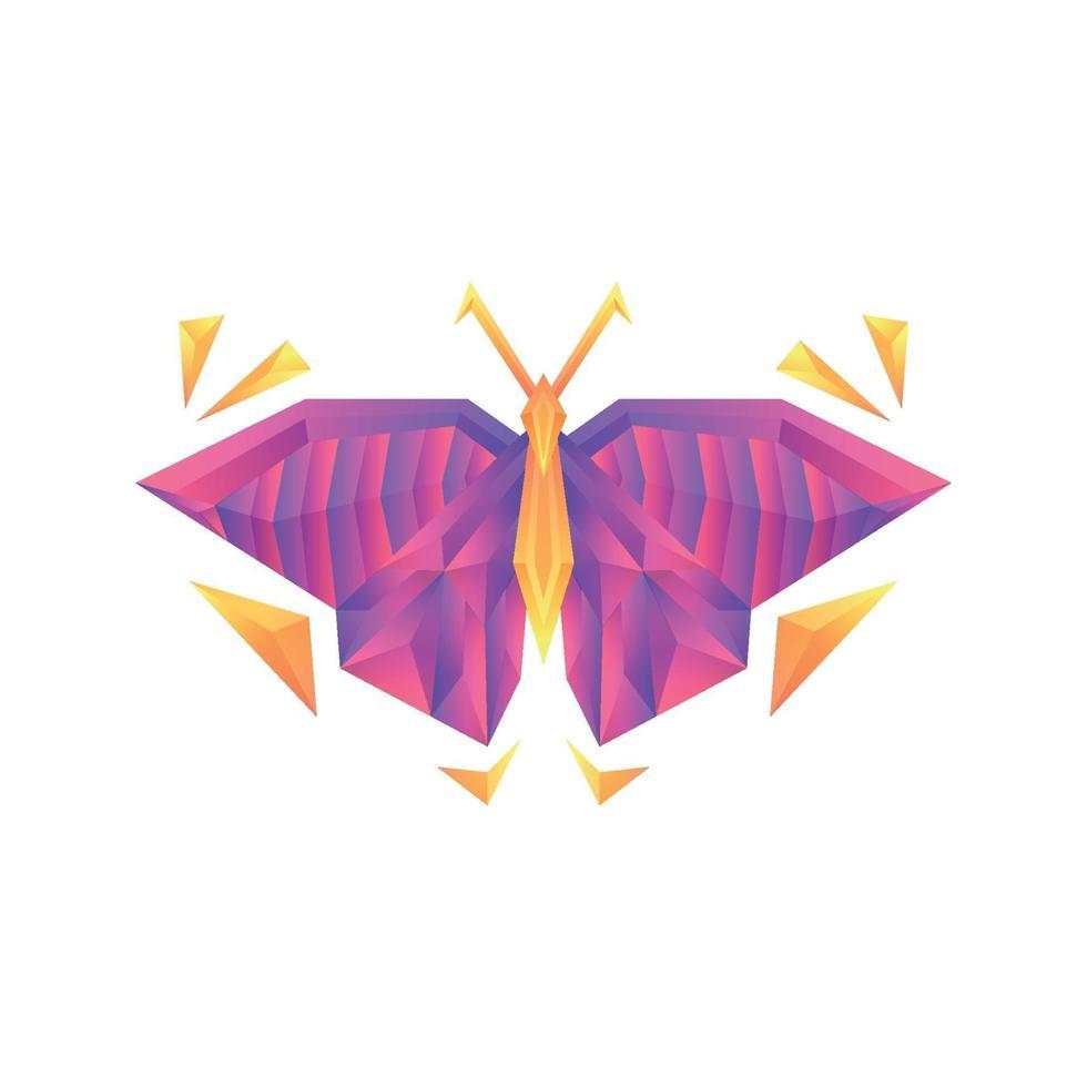 creatieve kleurrijke kleurovergang vlinder vector logo concept ontwerpsjabloon