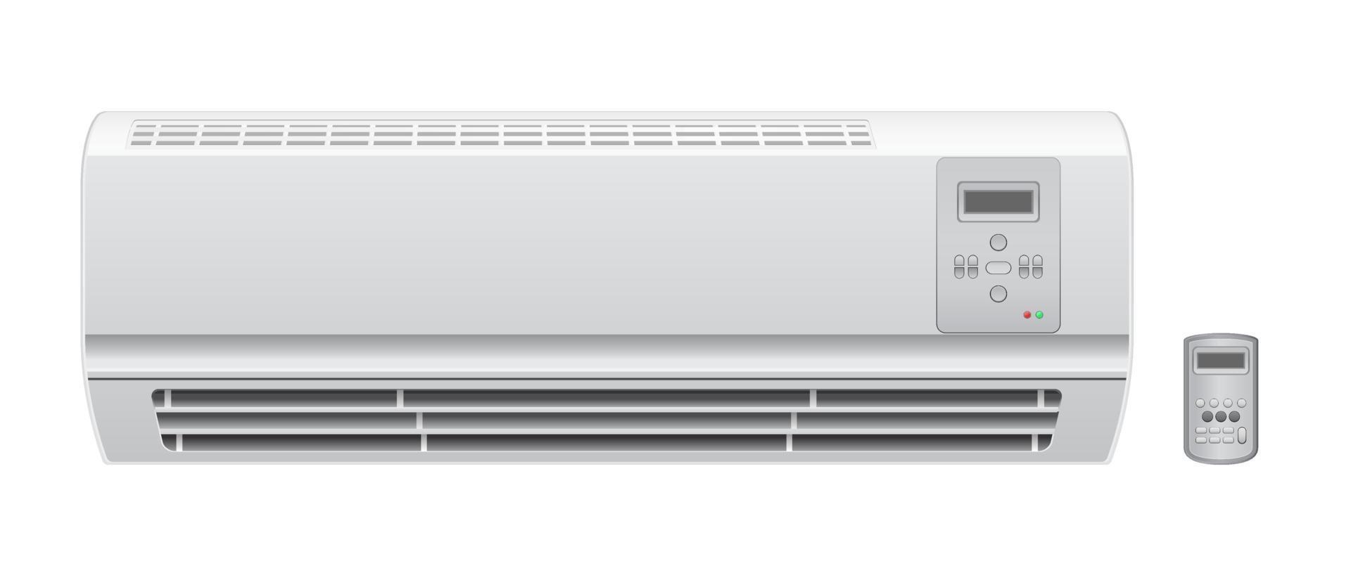 airconditioner met afstandsbediening vector