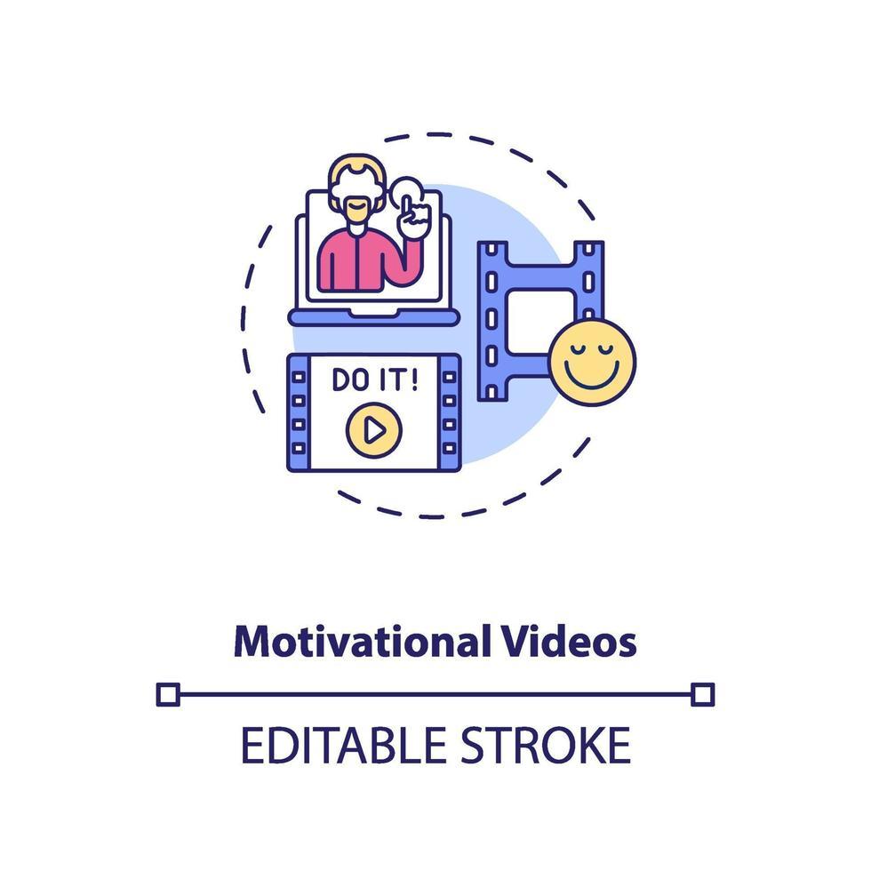 motiverende video's concept pictogram vector