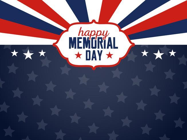 Happy Memorial Day achtergrond. Vlag van de VS Banner met kopie ruimte vector