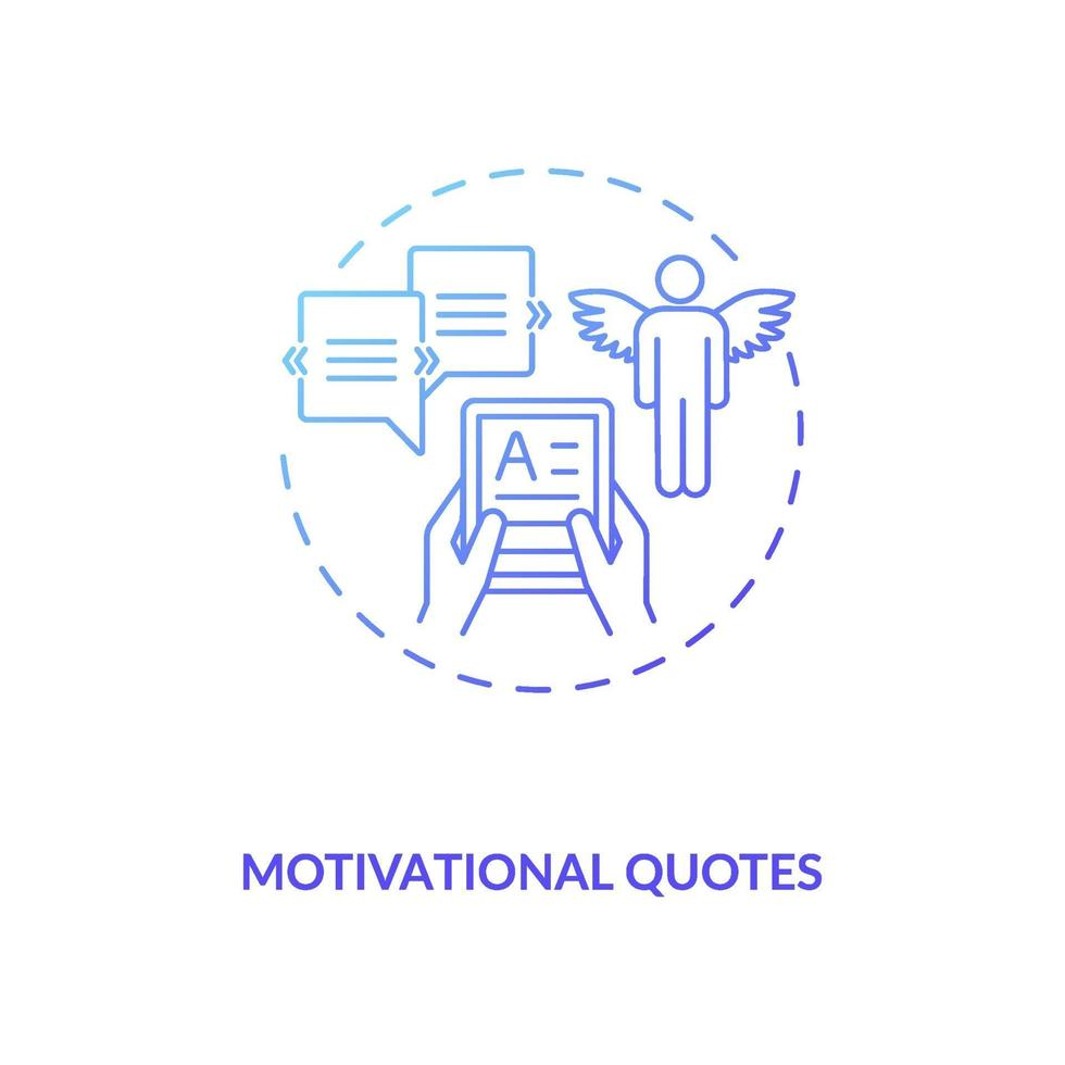 motiverende citaten concept pictogram vector