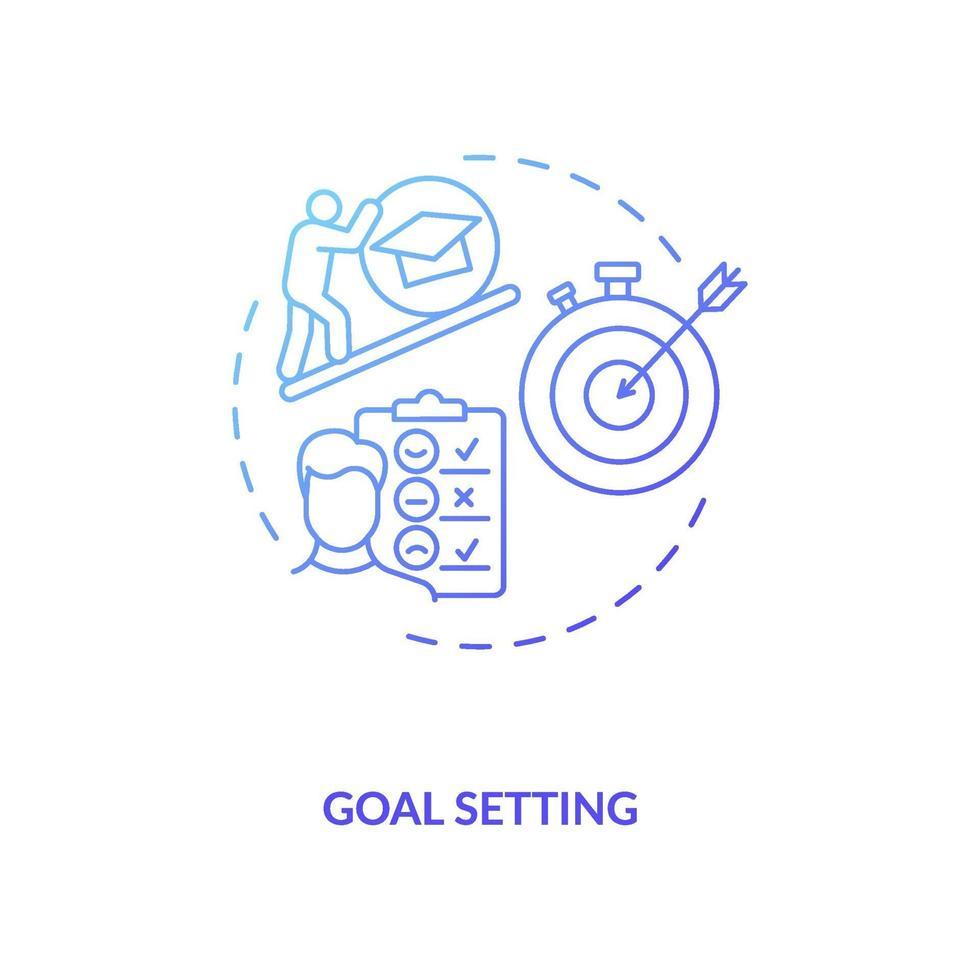 doel stellen concept pictogram vector