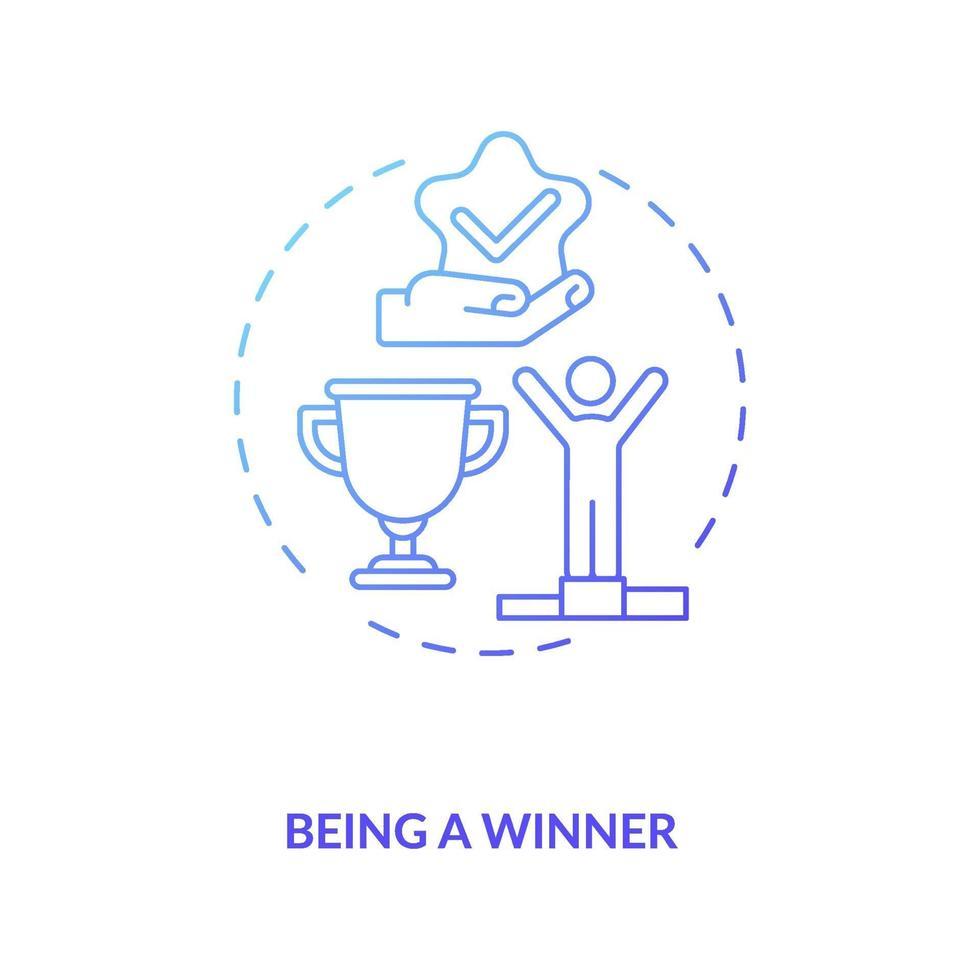 winnaar concept pictogram vector