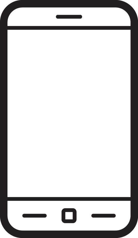 lijn pictogram voor telefoon vector