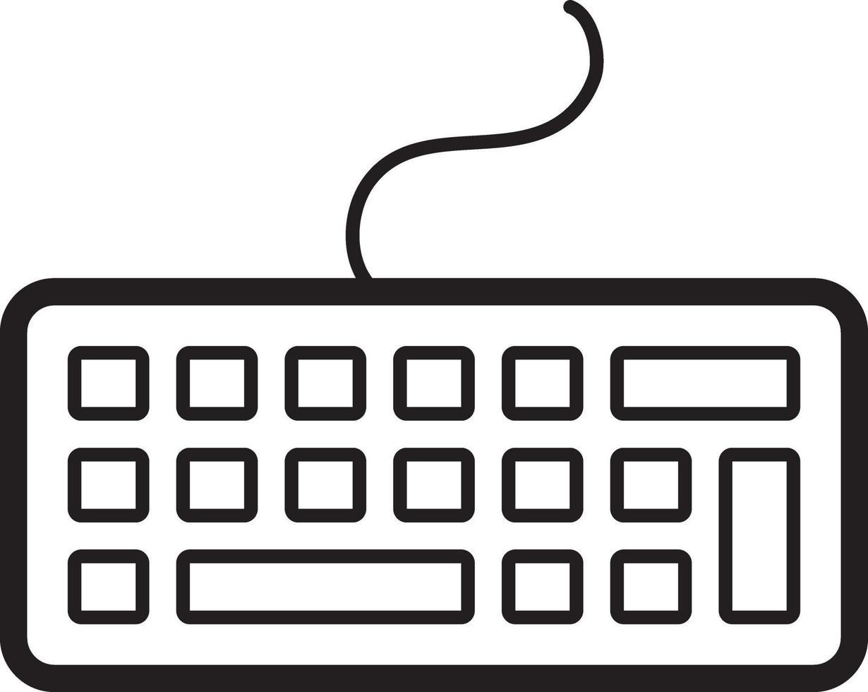 lijnpictogram voor toetsenbord vector