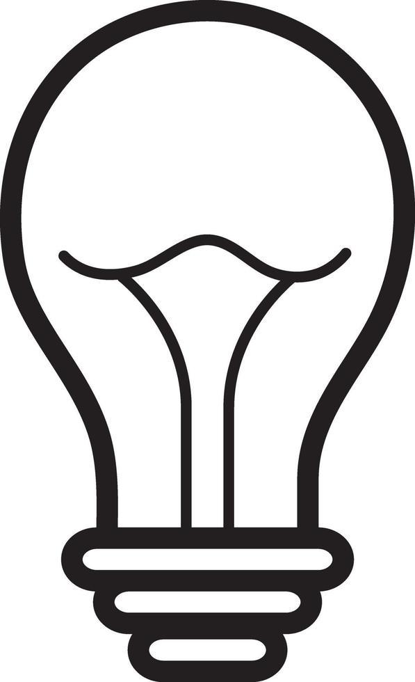 lijn pictogram voor licht vector