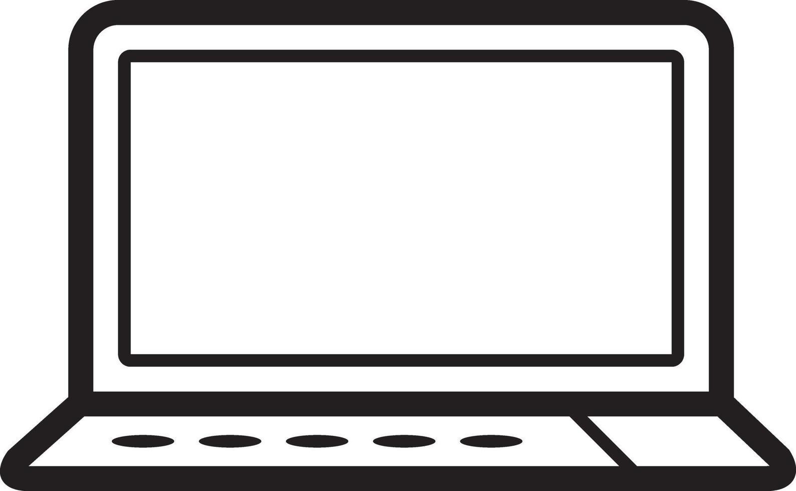 lijn pictogram voor laptop vector