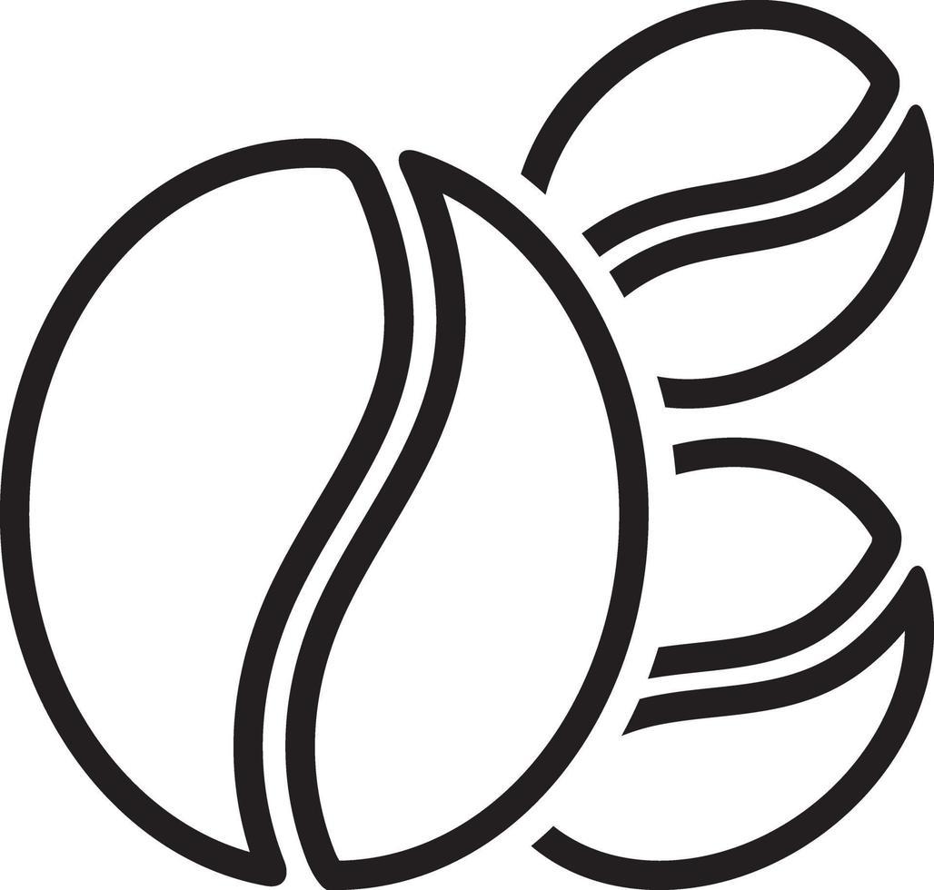 lijn pictogram voor koffieboon vector