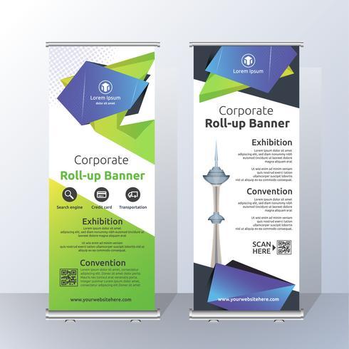 Verticale Roll-up Banner sjabloonontwerp voor kondigen en Adverti vector