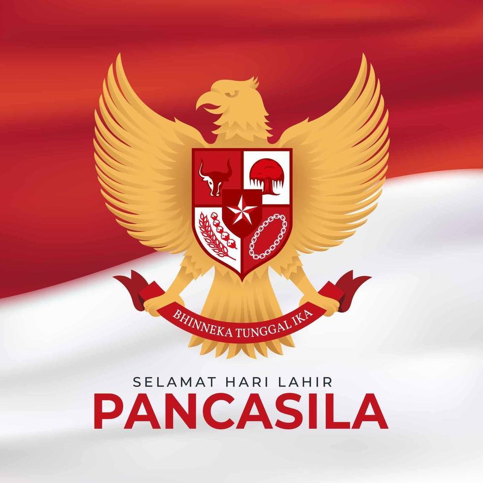 indonesië pancasila-dag vector