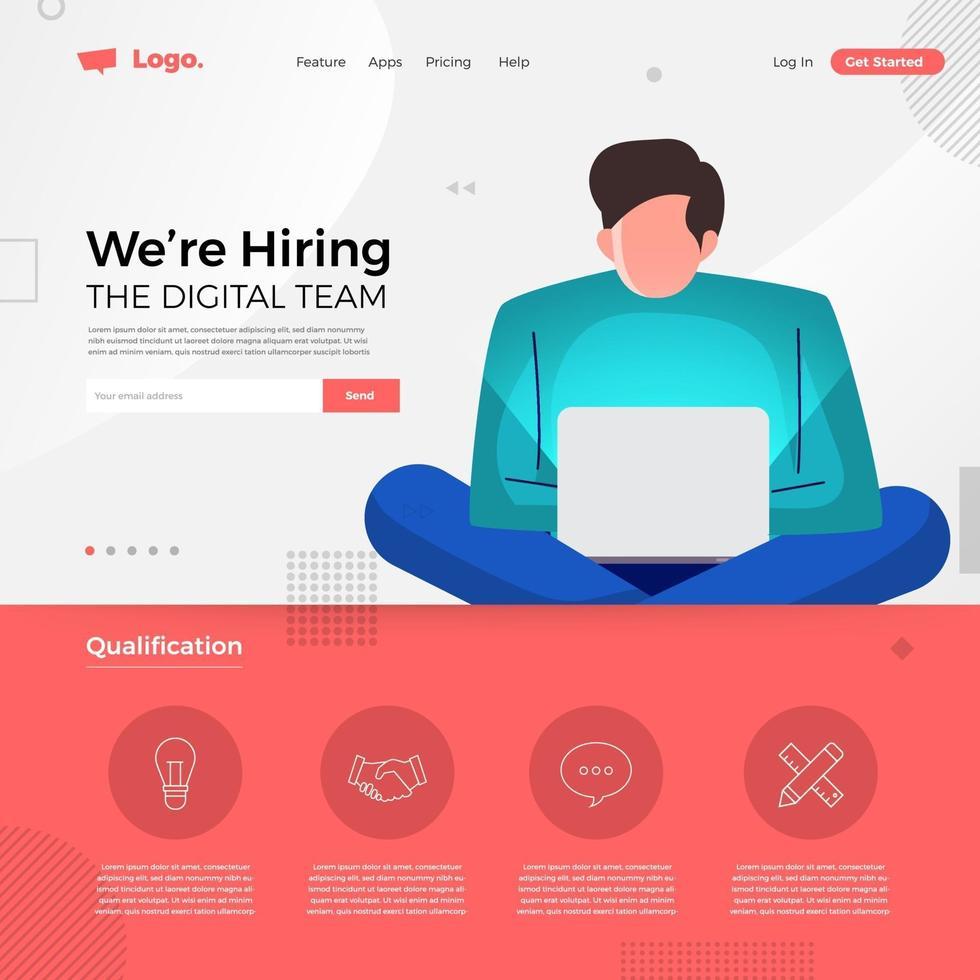 digitaal team dat we aannemen vector
