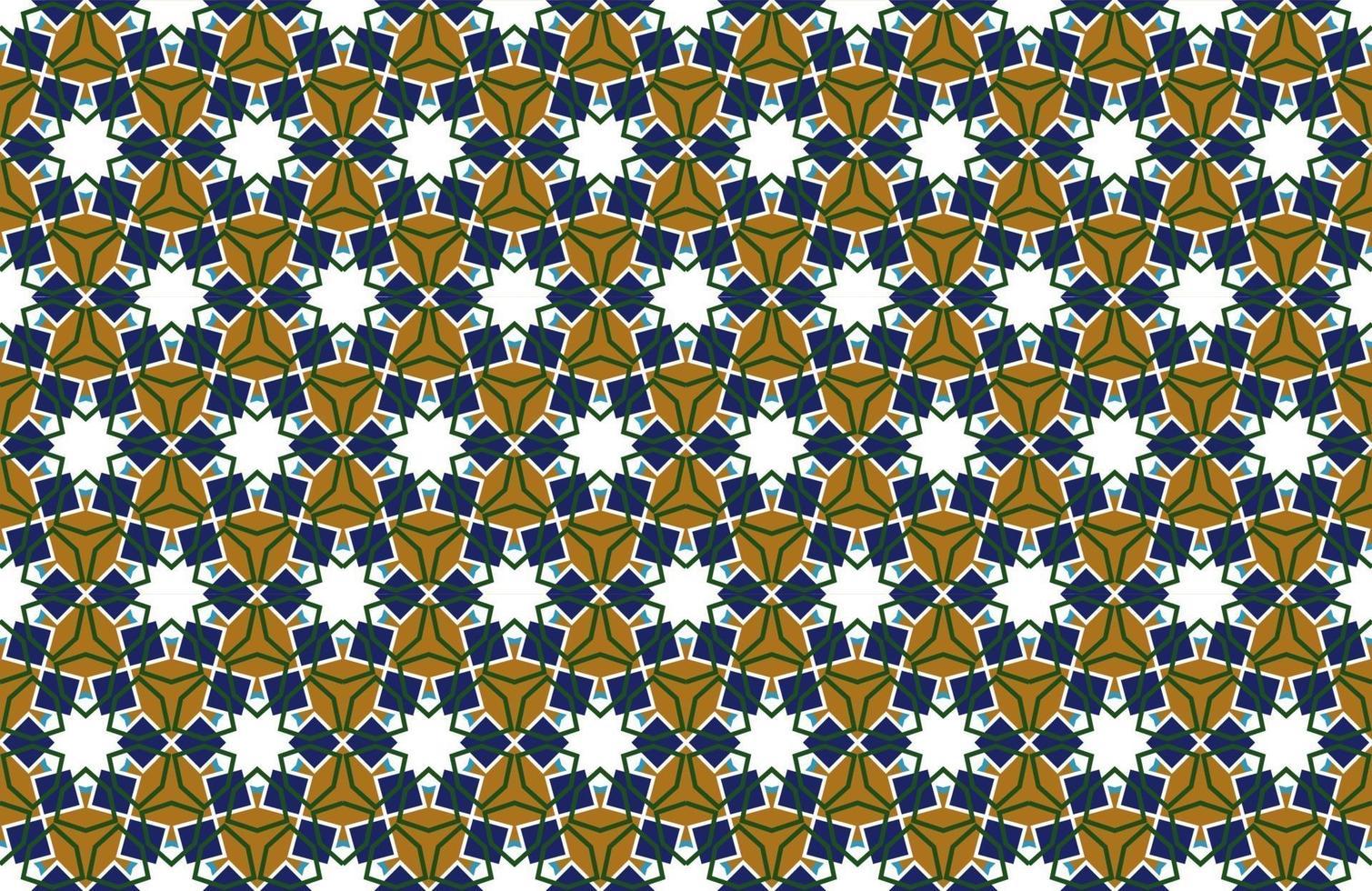 Arabische patroon naadloze achtergrond in islamitische stijl. geometrische moslim ornament achtergrond. vector eps10 wallpaper illustratie