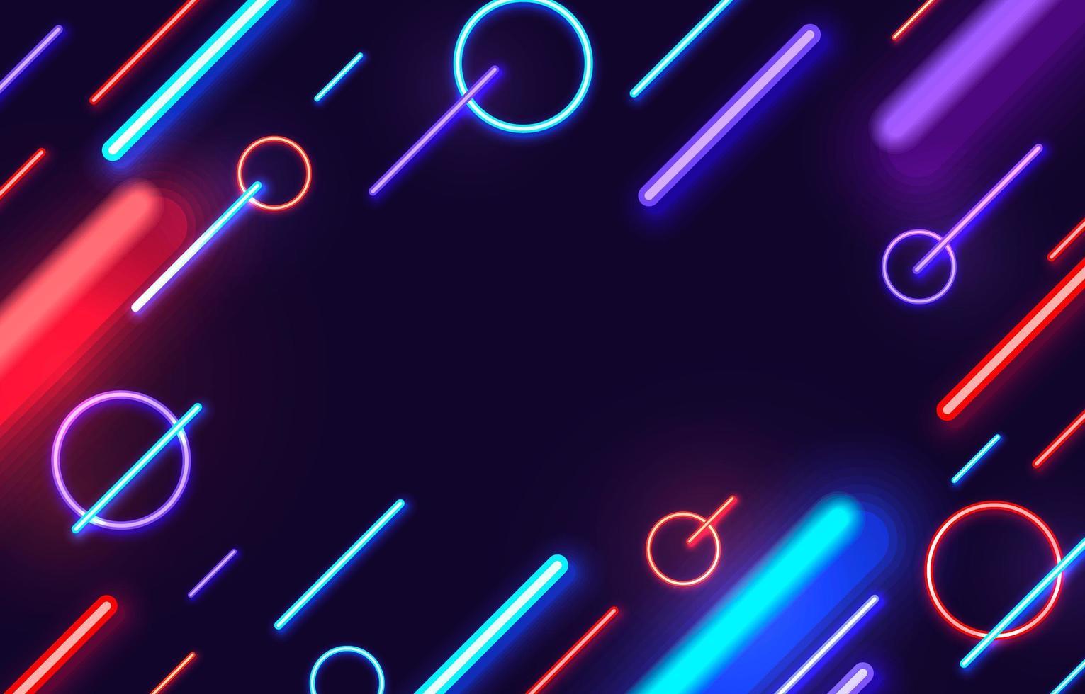 abstracte neon met zwarte achtergrond vector