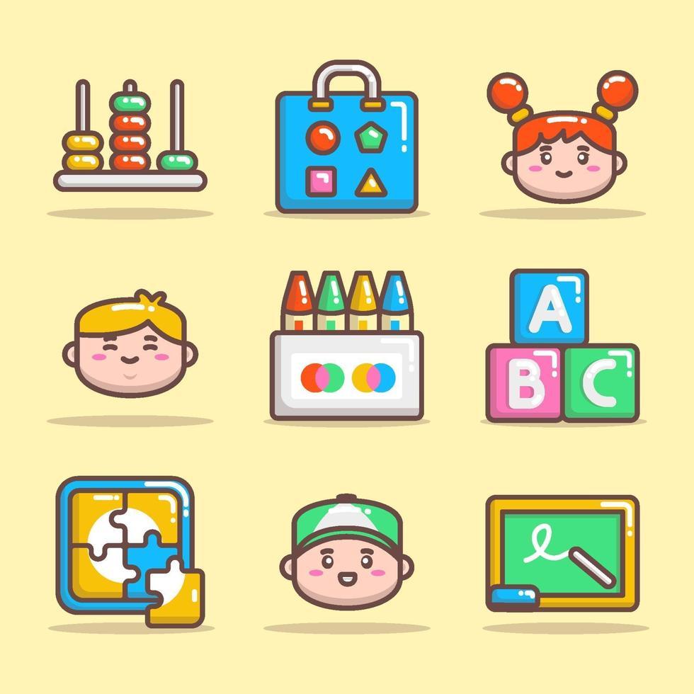 kleuterschool pictogramserie vector