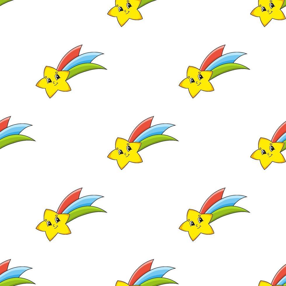 naadloze patroon met ster vector