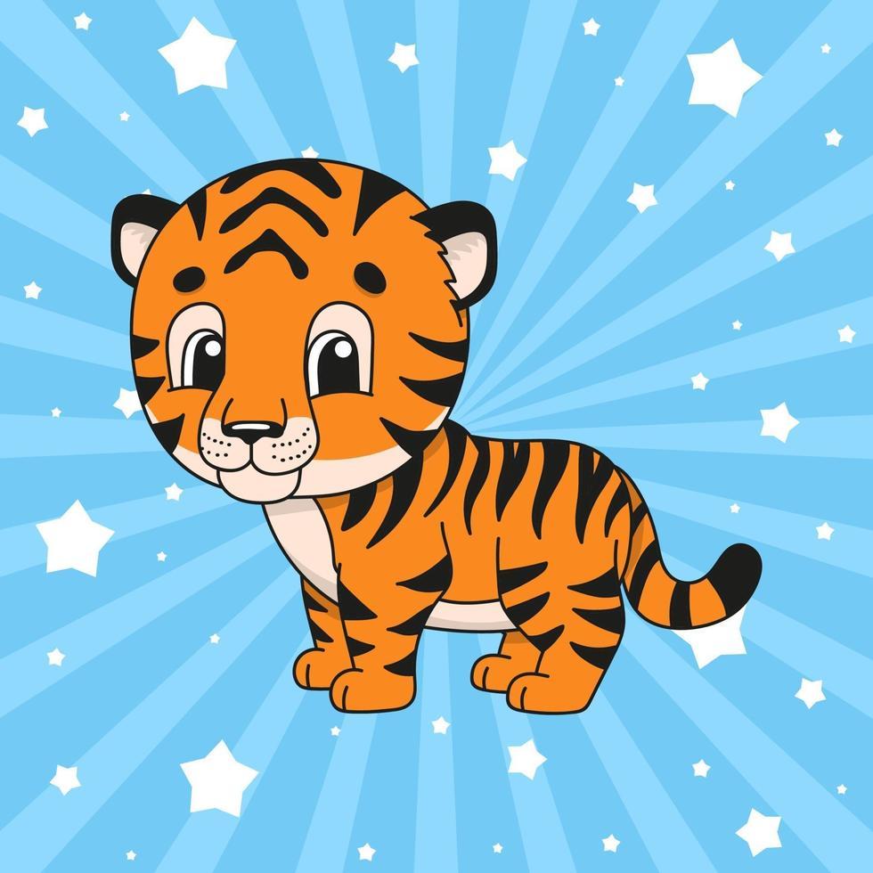 sticker tijger dier vector