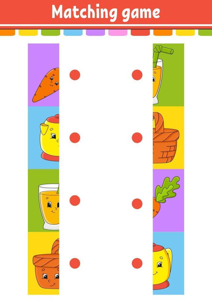 matching game voor kinderen vector
