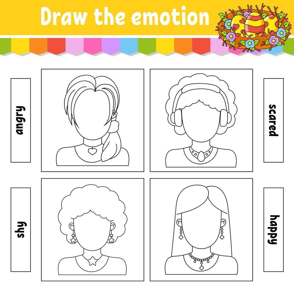 teken de emotie vector