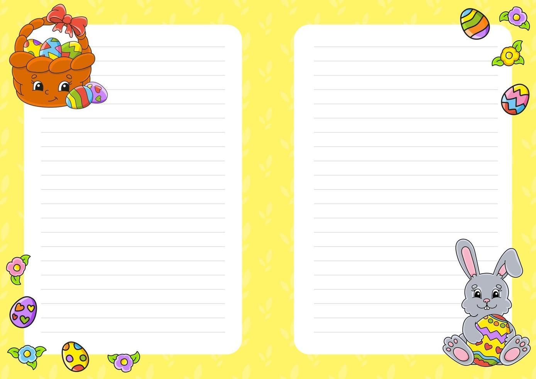 briefpapier voor kinderen vector