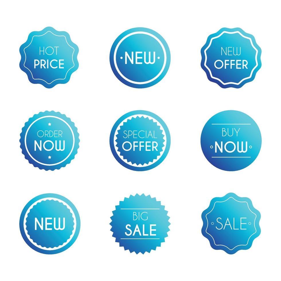 verkoop badges set vector