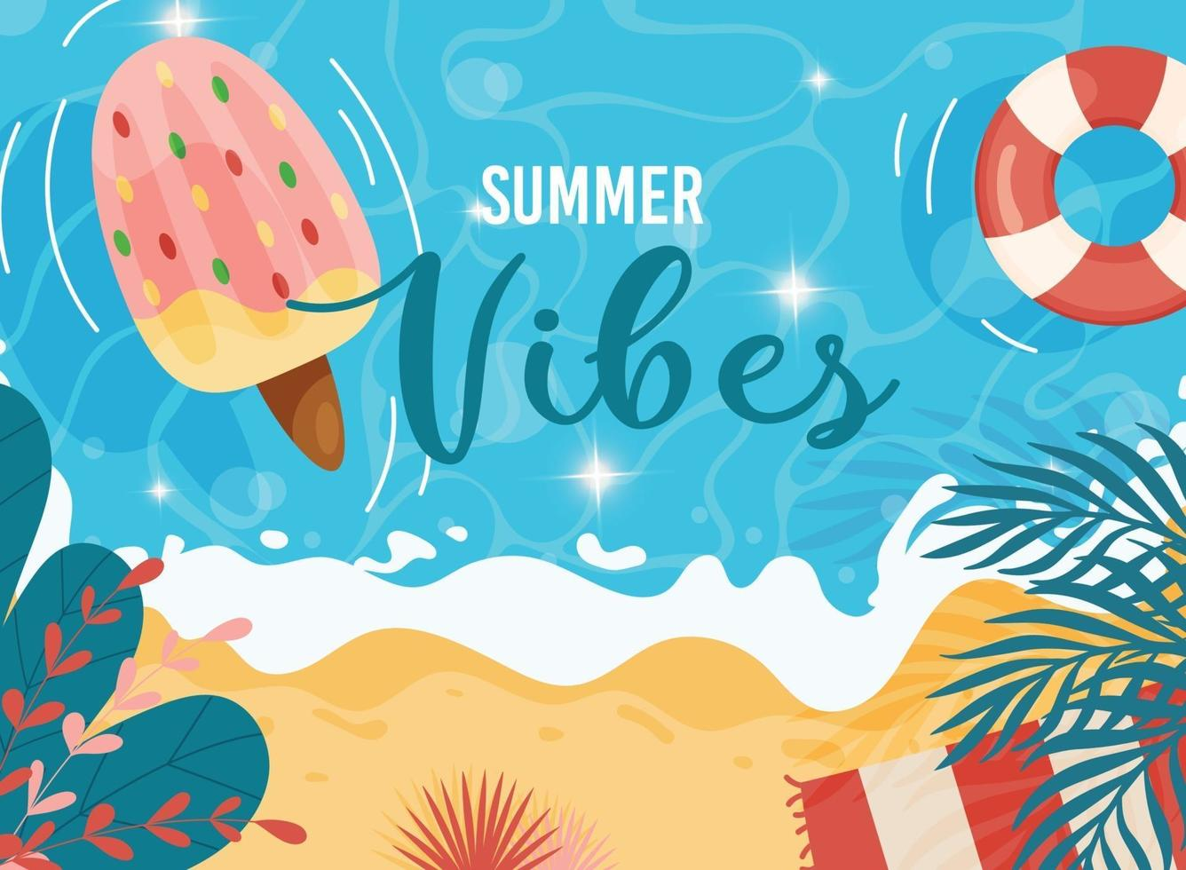 zomer vibes poster vector
